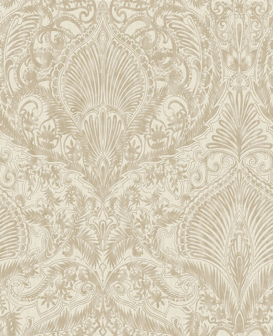 burlesque cream and gold wallpaper