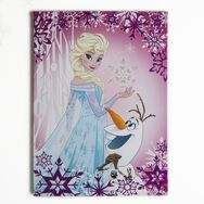 Frozen Elsa & Olaf Glitter Printed Canvas, , large