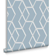 Archetype Blue & Silver Behang, , large