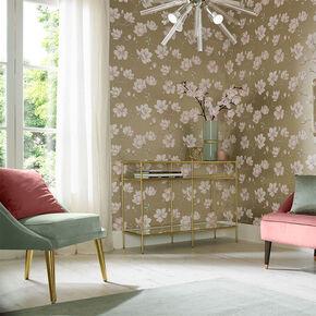 Large Pierre Pink Wallpaper