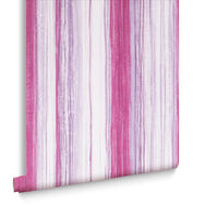 Chelsea Stripe Fuchsia Wallpaper, , large