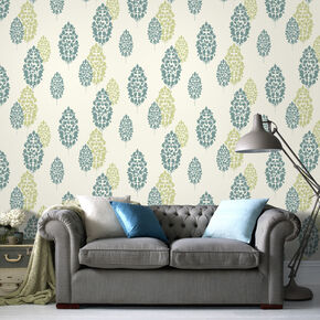 Lucy Teal Wallpaper, , large