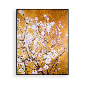 Oriental Blossom Hand Painted Framed Canvas, , large