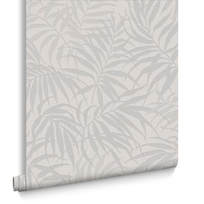 Tropic Beige & Silver Behang, , large