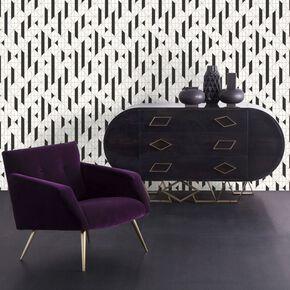 Linear Black & White Wallpaper, , large