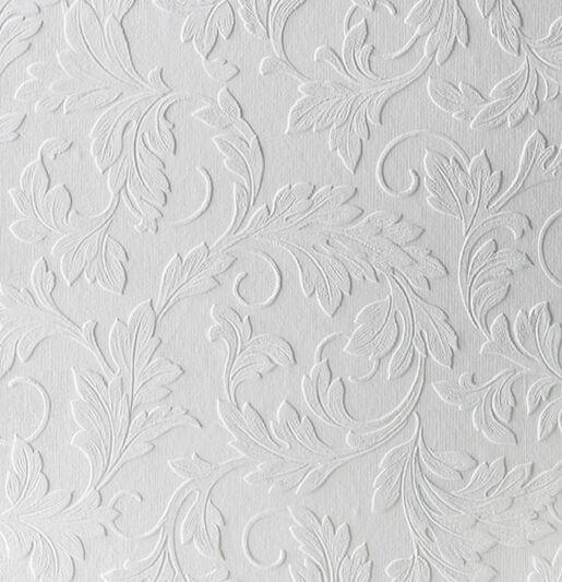 Large Scrolling Leaf Wallpaper, , large