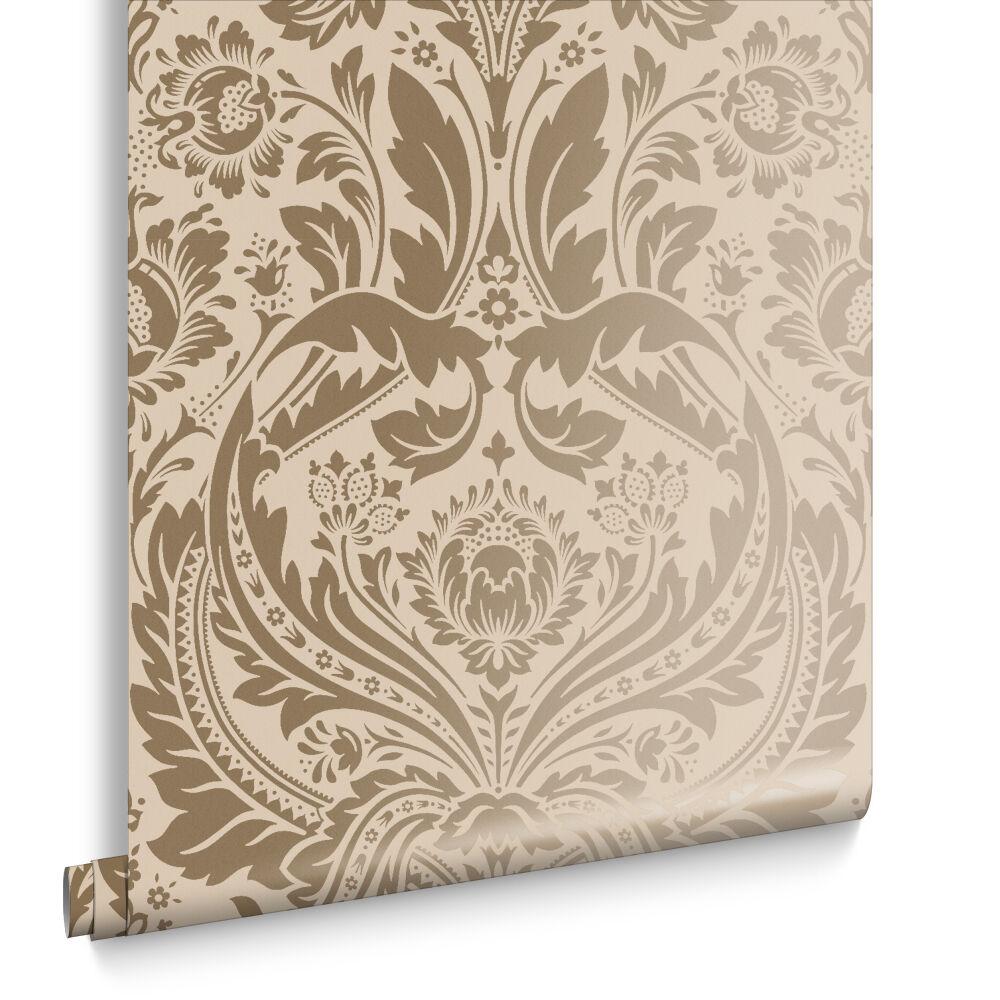 desire taupe and metallic wallpaper