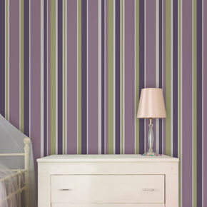 Rico Stripe Amethyst and Apple Wallpaper, , large