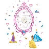 Sticker Horloge Princesses, , large