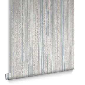 Neutral / Duck Egg Jute Wallpaper, , large