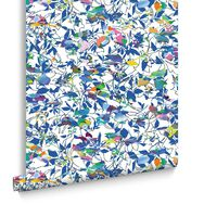 Brian Eno Flower Mask Blue Wallpaper, , large