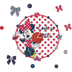 Sticker Horloge Minnie Mouse, , large