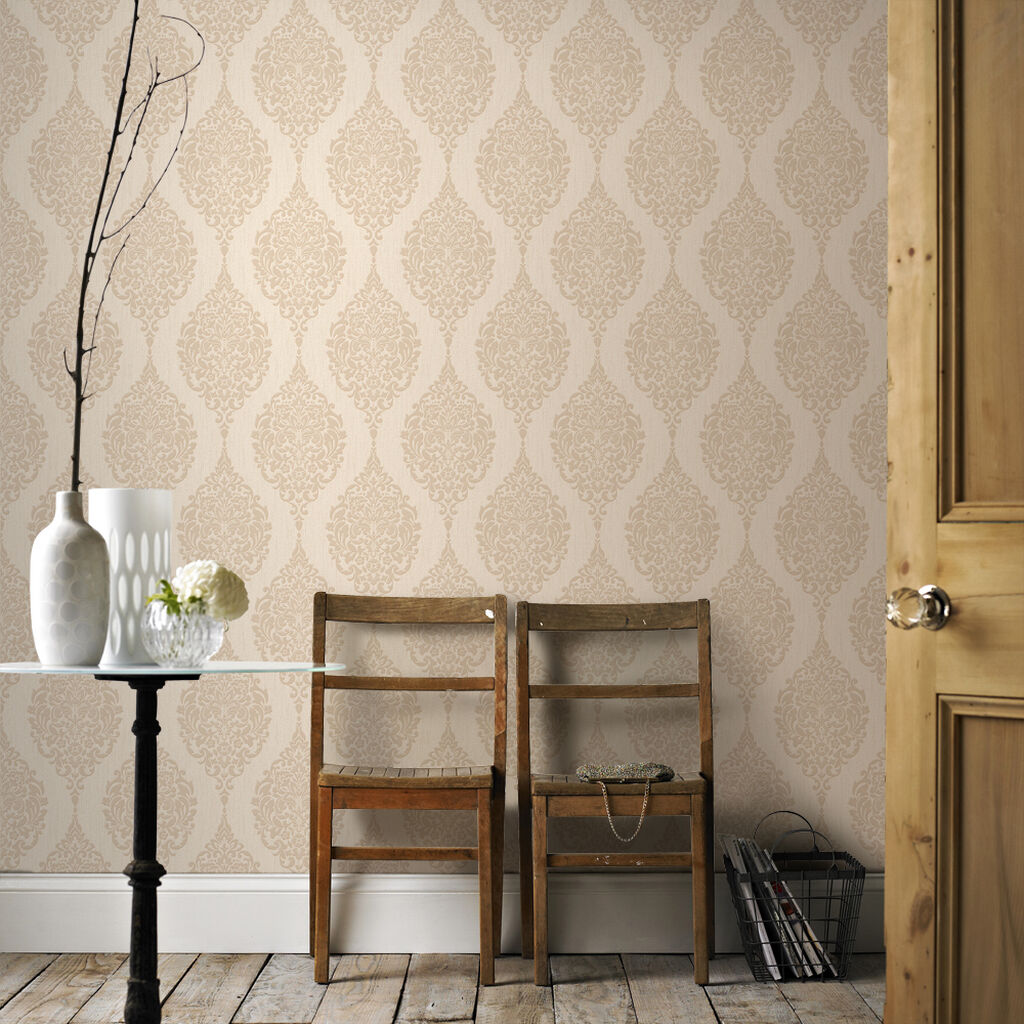 luna gold wallpaper graham brown. Black Bedroom Furniture Sets. Home Design Ideas