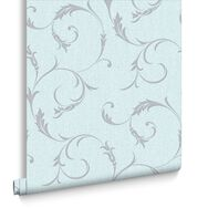 Athena Duck Egg Wallpaper, , large
