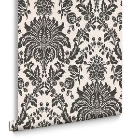 Elizabeth Black and White Wallpaper, , large