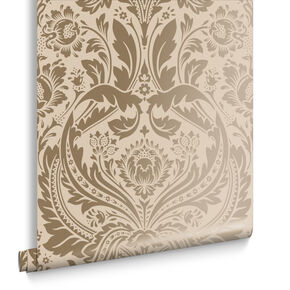 Desire Taupe & Metallic Behang, , large
