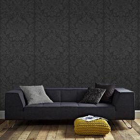 Black Wallpaper For Walls black wallpaper | plain & patterned wallpaper | dark