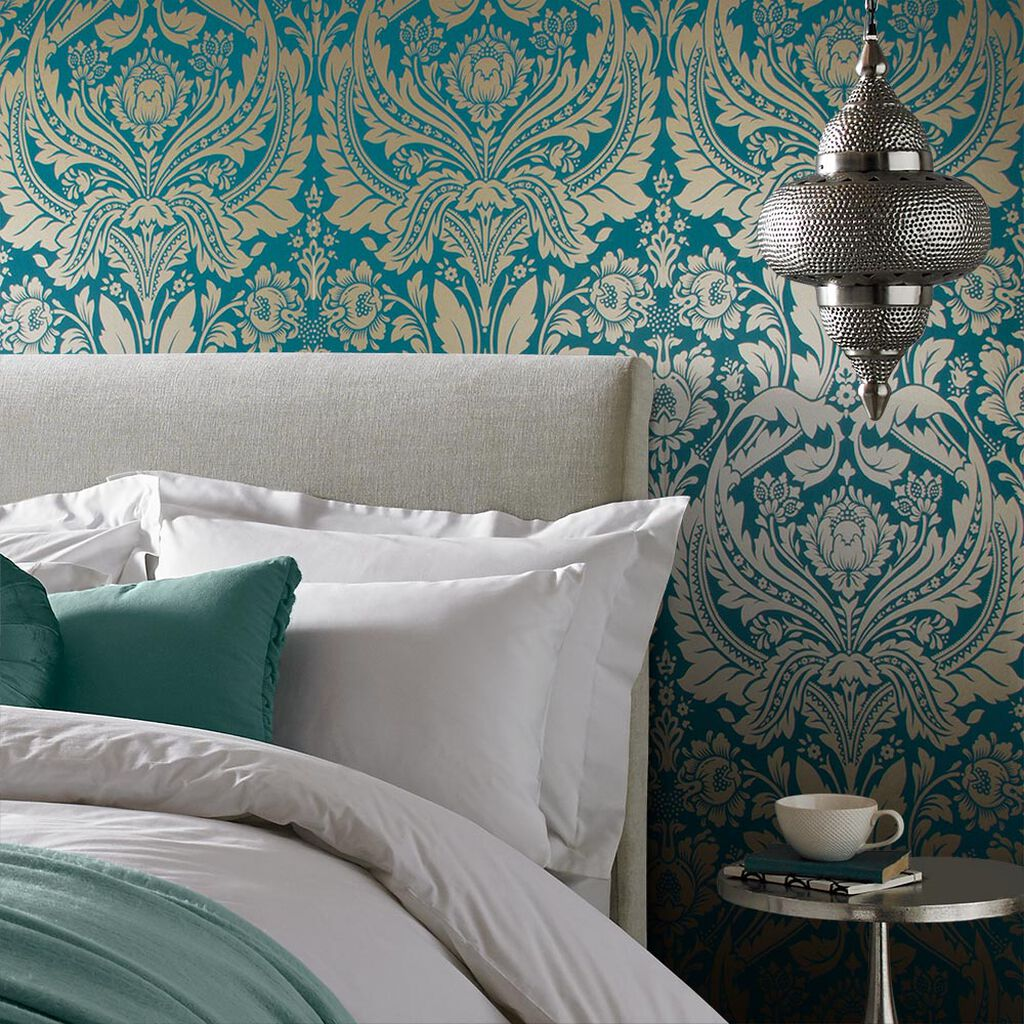 desire teal gold wallpaper grahambrownuk