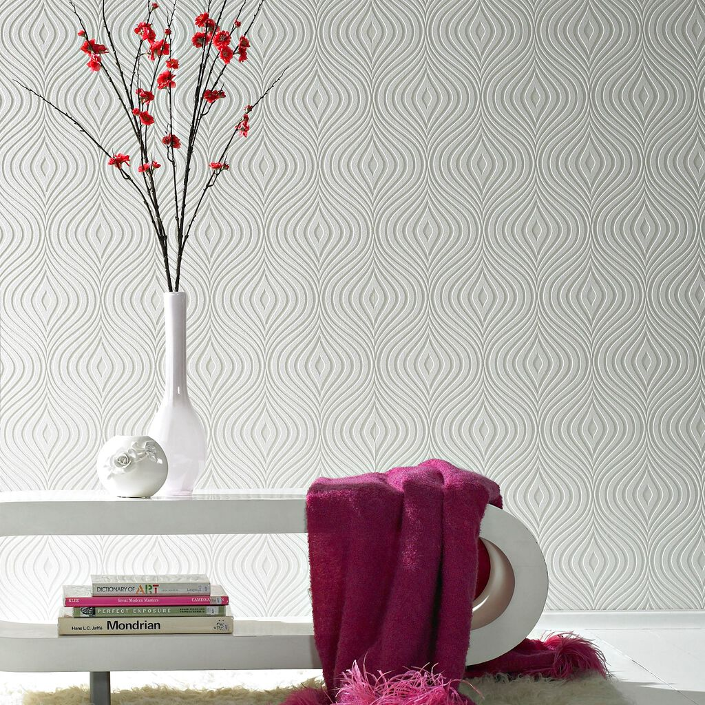 Textured paintable wallpaper - Curvy Wallpaper Large