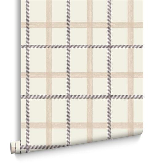 Brown Plaid Wallpaper: Plaid Sand Wallpaper