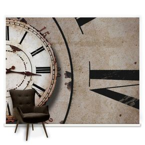 Clock Face Mural, , large