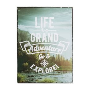 """Life's An Adventure"" bedrukt canvas, , large"