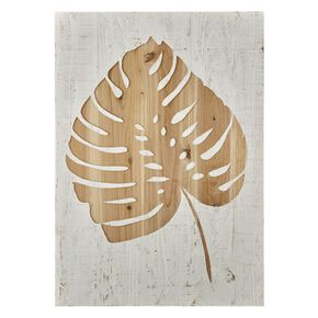 Tropical Leaf Impression sur Bois, , large