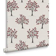 Willow Red and Black Wallpaper, , large