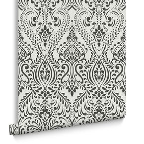 Glamour Damask Black und White, , large