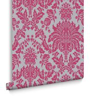 Elizabeth Pink and Silver Wallpaper, , large
