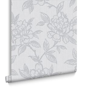 Bloom Grey Wallpaper, , large