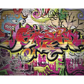 City Graffiti Wall Mural, , large