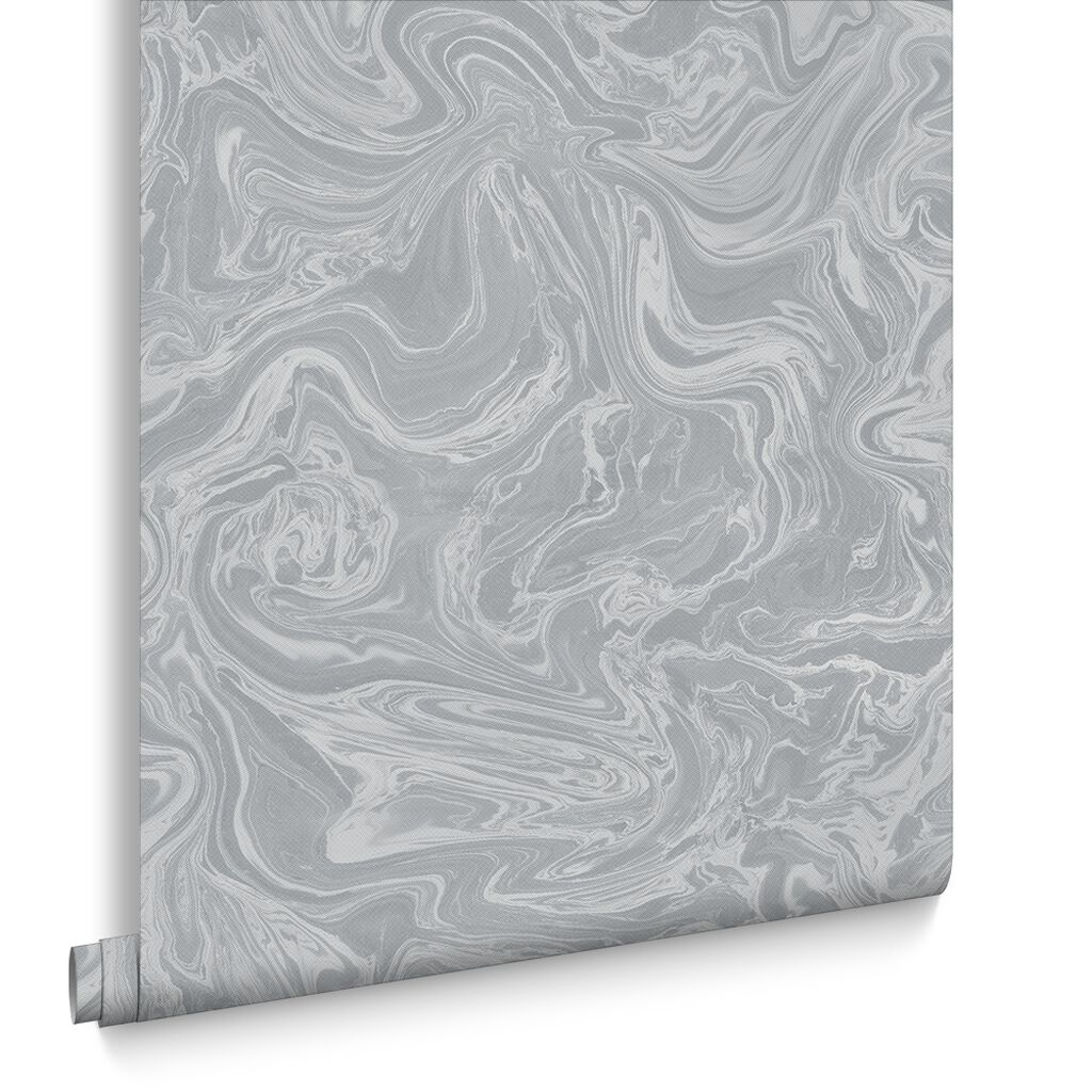 Marbled Grey and Silver Wallpaper | Graham & Brown