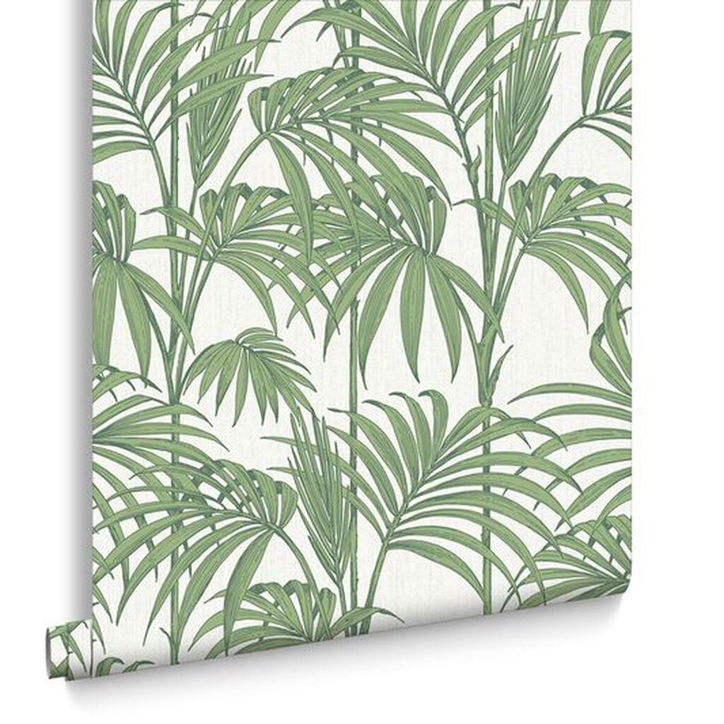 honolulu palm green wallpaper palm tropical leaf wallpaper. Black Bedroom Furniture Sets. Home Design Ideas