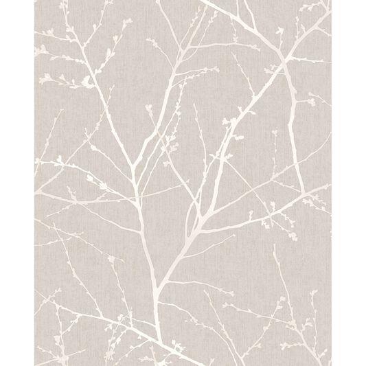 Innocence mushroom wallpaper graham brown for Grey and cream wallpaper