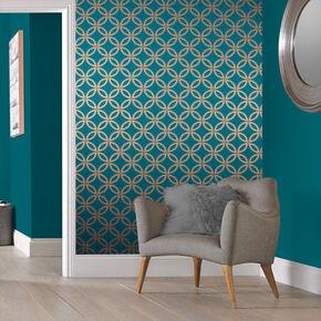 papier peint bleu papier peint bleu canard sarcelle layette. Black Bedroom Furniture Sets. Home Design Ideas