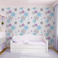 Frozen Snowflake Wallpaper, , large
