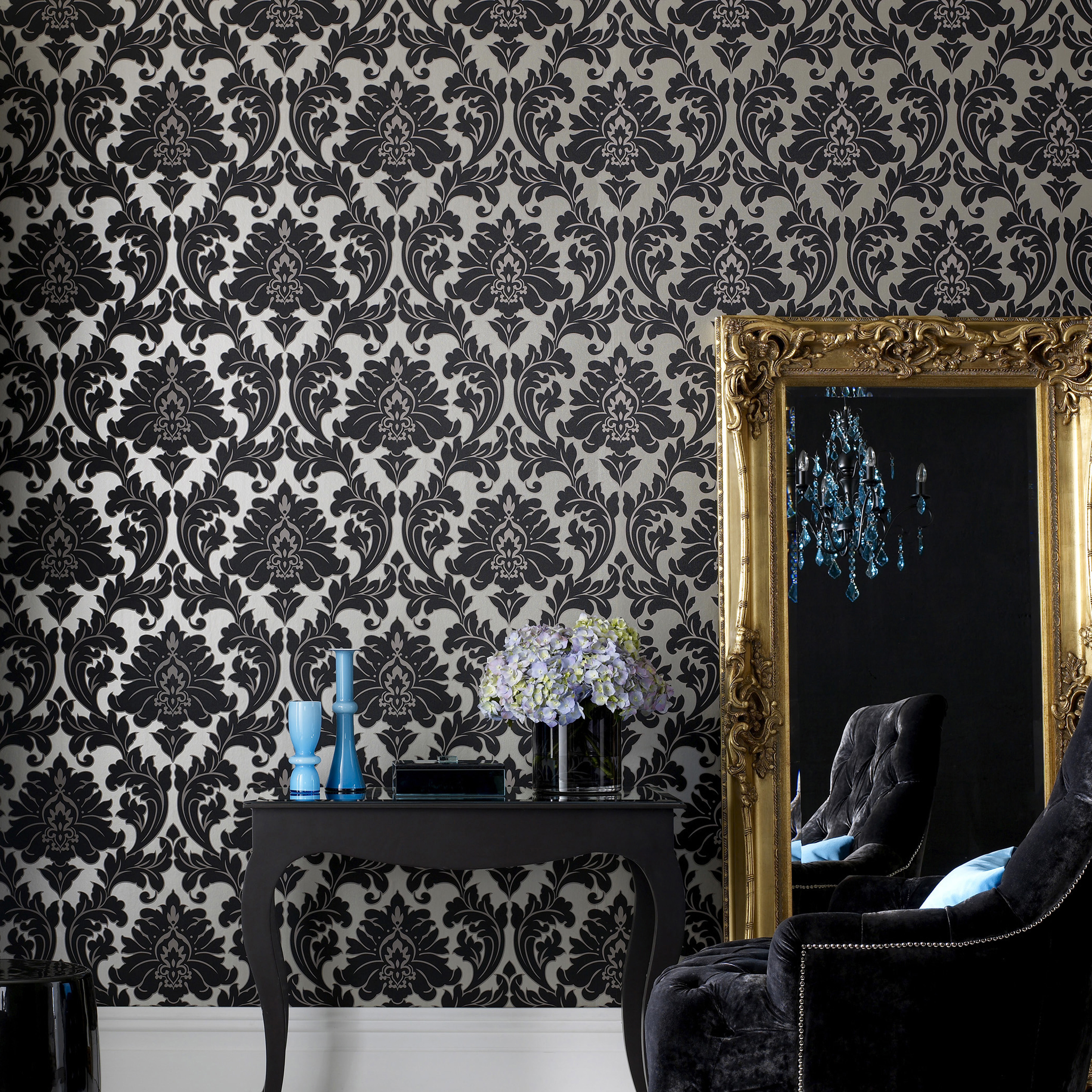 ... Large Majestic Black And Gold Wallpaper, ... Part 80