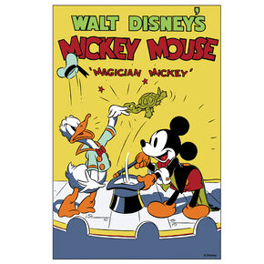 Magician Mickey Printed Canvas, , large