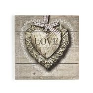 Love Print On Wood, , large