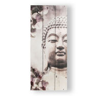 Buddha Print On Wood Wall-art, , large
