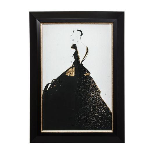 Glamour Fashion Metallic Framed Art, , large