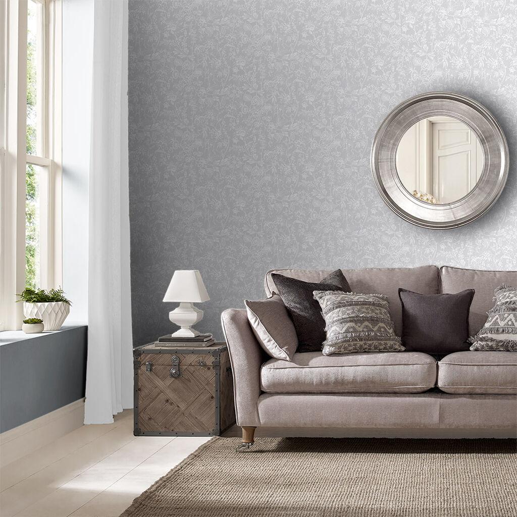 Stroma tapete stone grahambrownde for Beige living room wallpaper