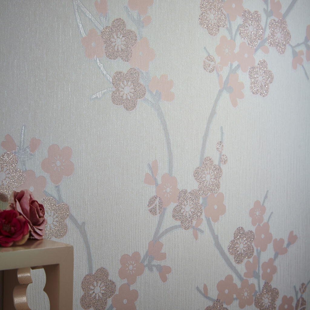 cherry blossom soft pink wallpaper graham brown