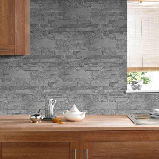 New Brick Grey Wallpaper Grahambrownuk