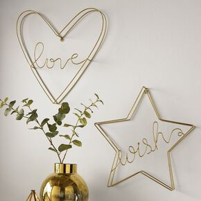 Gold Wish Metal Art, , large