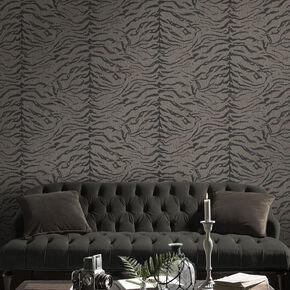 Tiger Taupe Wallpaper, , large