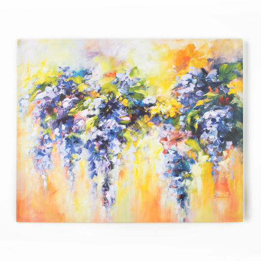 Lupins Printed Canvas, , large