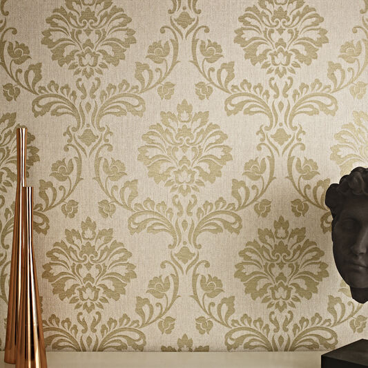 brown on brown damask wallpaper - photo #45