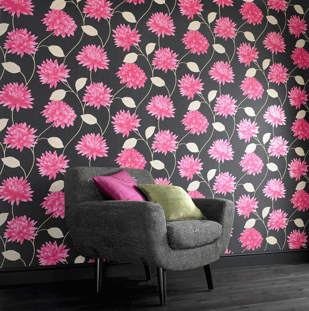 Wallpaper Black Pink: Romance Black / Pink